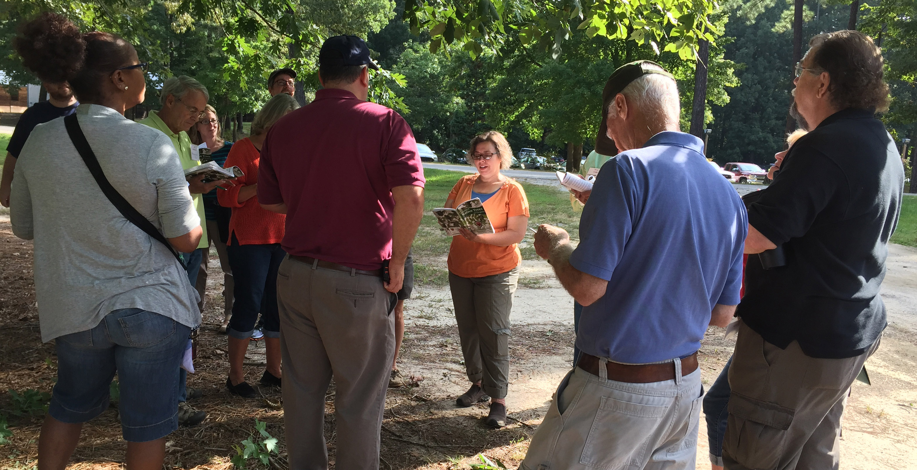 The Beginning Landowner Weekend Retreats provide hands-on experience with key skills such as tree identification.