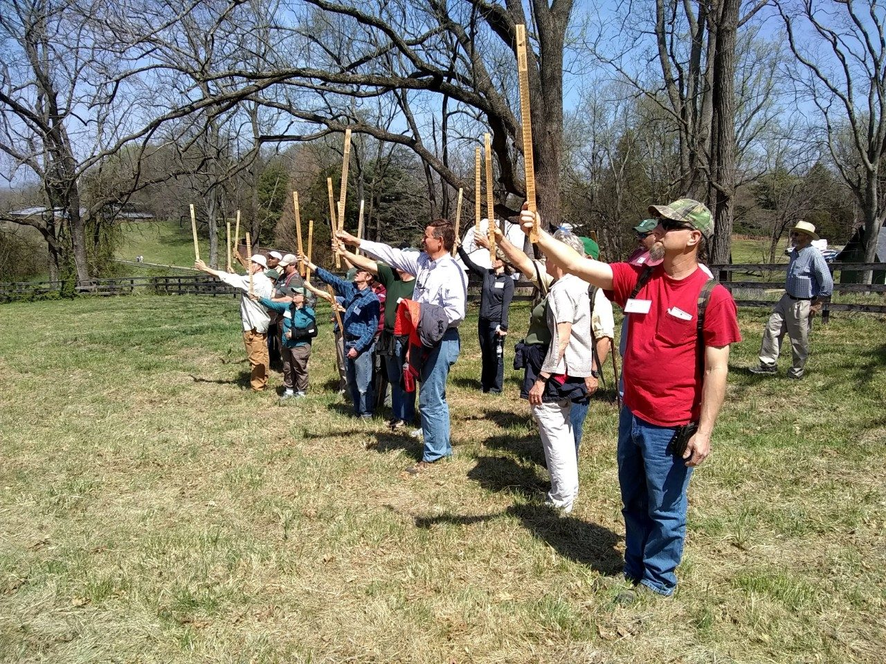 Participants in the On-line Woodland Options for Landowners Field Trip learned how to measure and value individual trees.